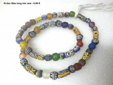 Krobo Beads long mixes necklace
