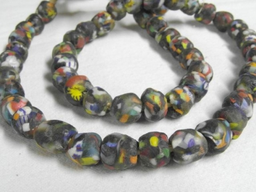 End of the day beads M bunt in grau