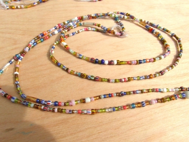 Strang Seed Beads gold mix ca. 100cm