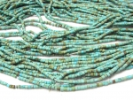African blue-green turquoise little tubes 2mm