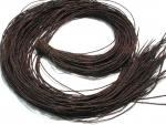 Leather cord, goat leather, dark brown, approx 2mm thick, 90cm long